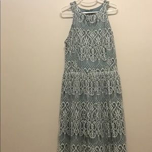 Halter top dress with lace